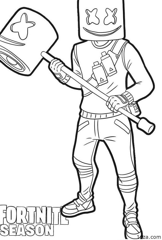 Fortnite coloring pages   Print and Color.com   999x675