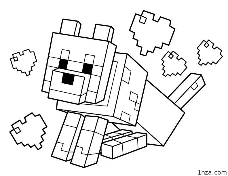 Minecraft Coloring Pages 1nza