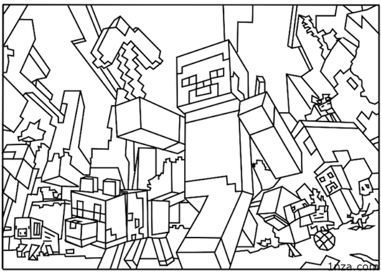 - Minecraft Coloring Pages – Free Printable Coloring Pages For Children And  Adults – 1NZA