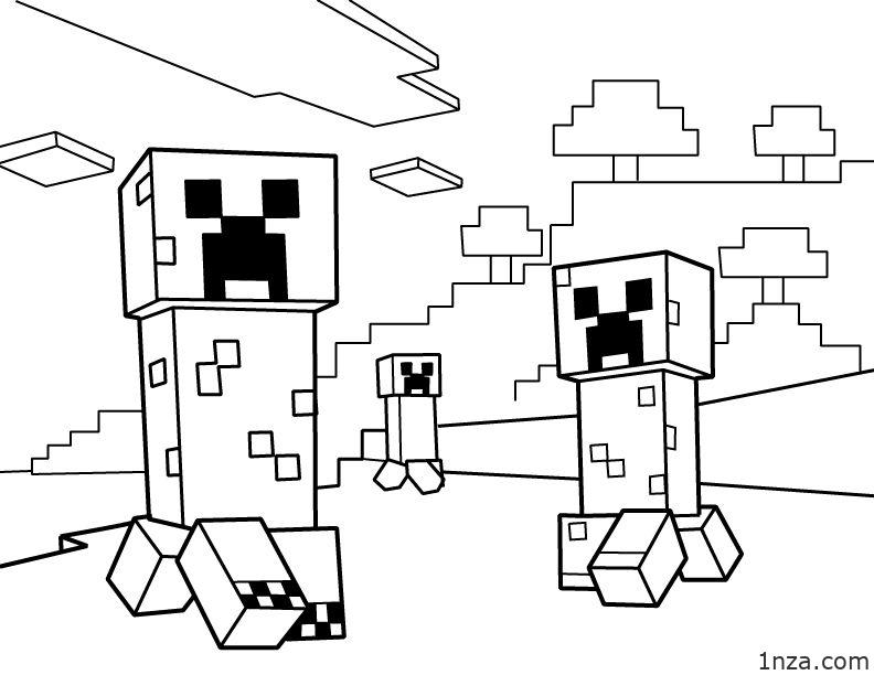 17 Free Printable Minecraft Coloring Pages 1nza
