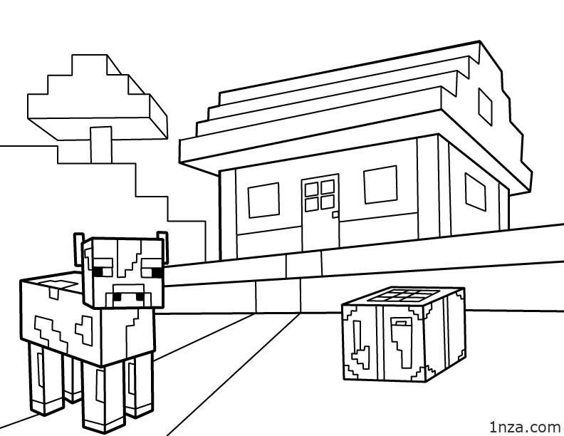 Minecraft Coloring Pages - 1NZA