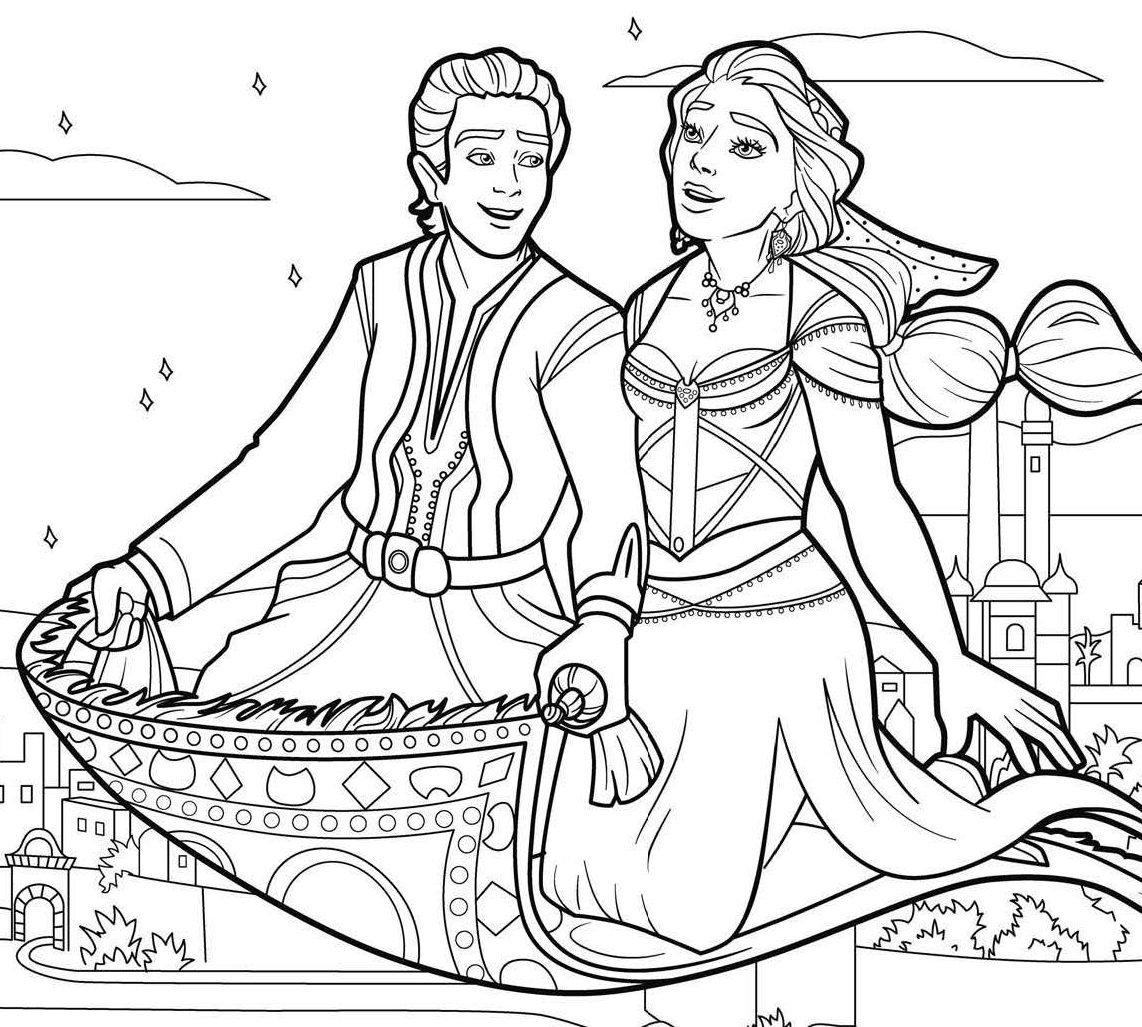 9 Free Printable New Aladdin Movie Coloring Pages - 1NZA