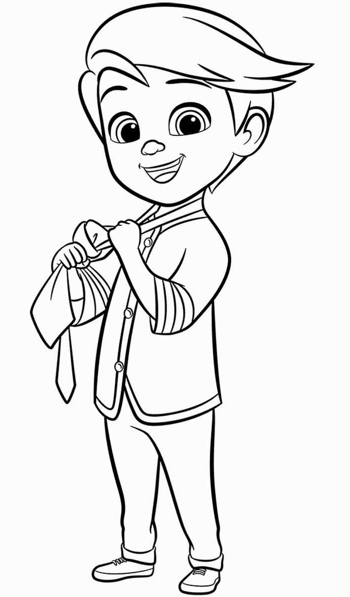 10 Free Printable Boss Baby Coloring Pages - 1NZA