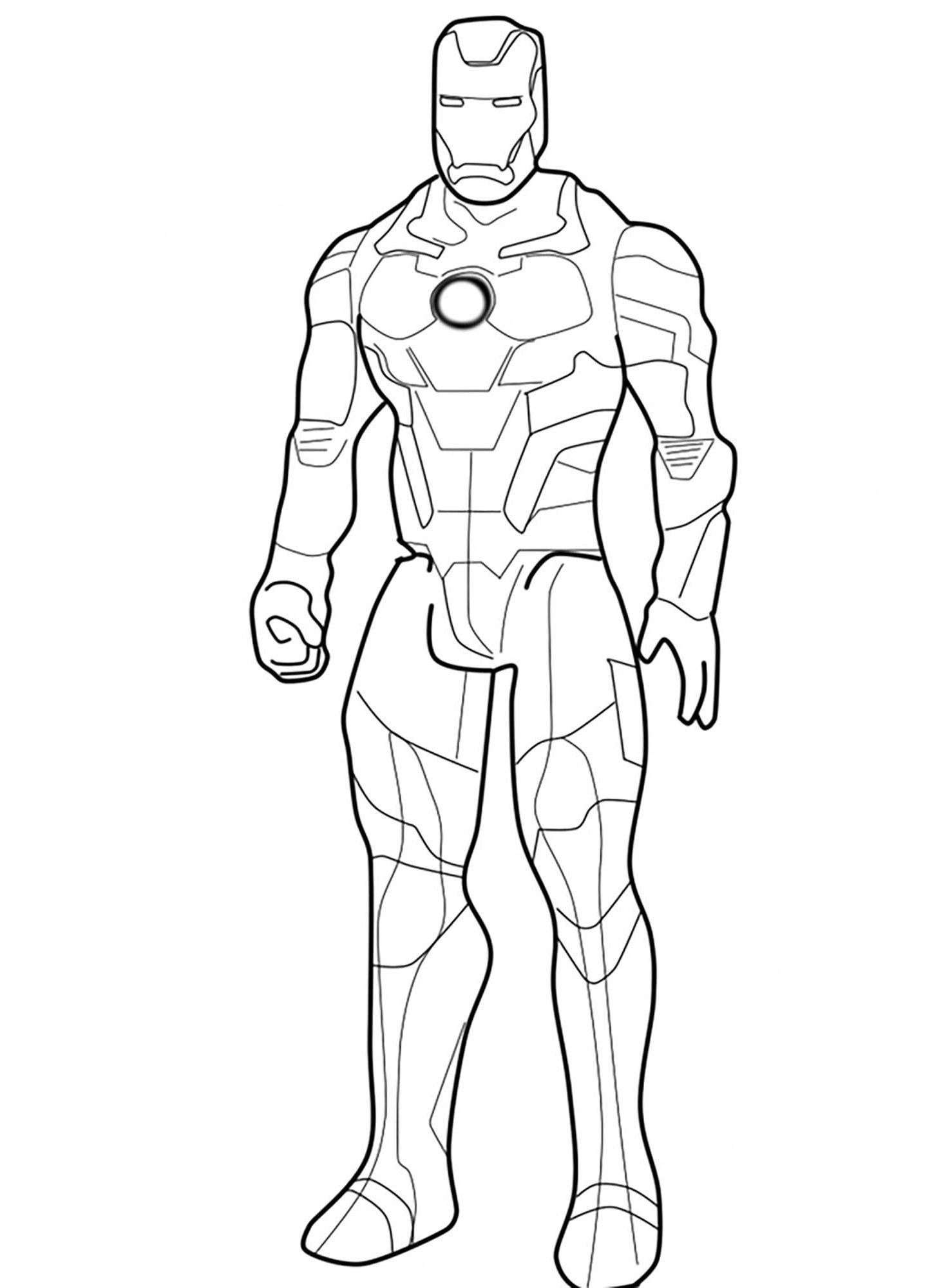 Ironman Coloring Pages 1nza